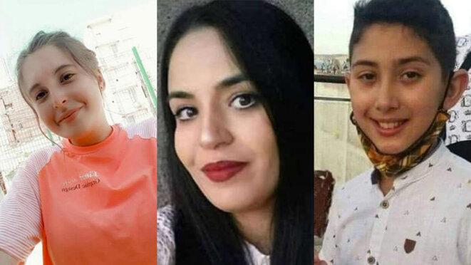 Chaïma Sadou, Rahma Lahmar et Adnane Bouchouf. © DR