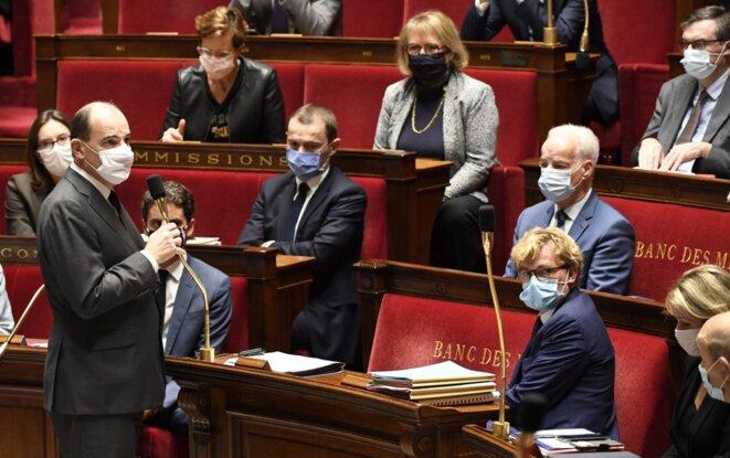 Jean Castex à l'Assemblée nationale, le 29 octobre. © Bertrand Guay / AFP