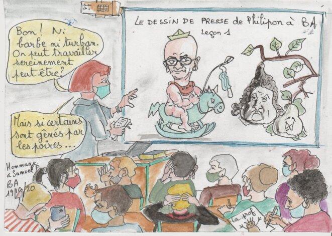enseignement: les dessins de presse © BA