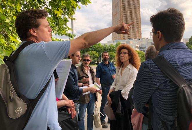 Intervention du collectif Pleyel à venir lors de l'enquête publique, en juin 2019. © JL