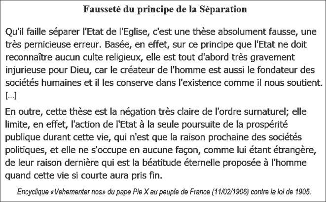 Encyclique «Vehementer nos» du pape Pie X contre la loi de 1905 (11/02/1906). Trad. française.