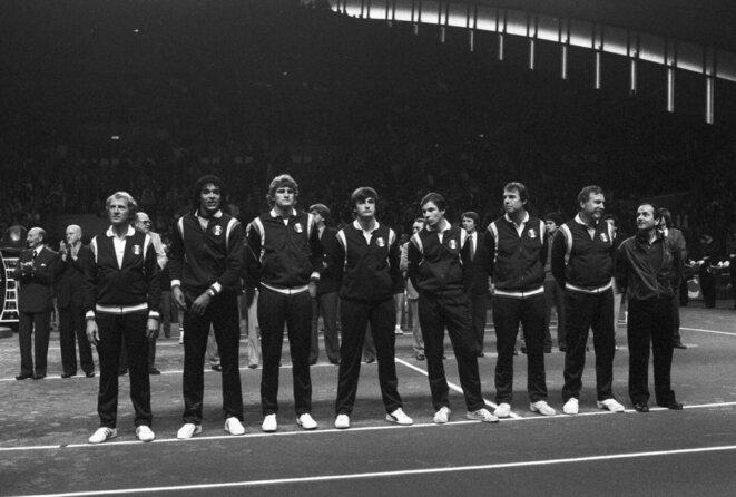 La finale de Coupe Davis 1982 contre les USA à Grenoble