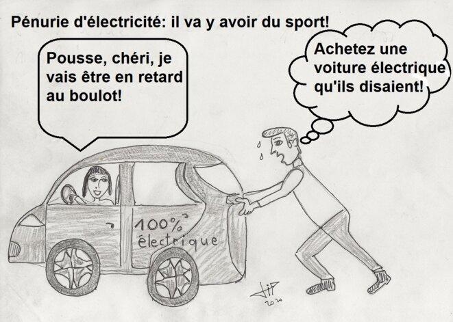 Pénurie d'électricité: poussez! © JP Boudet