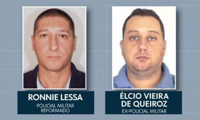 Les deux accusés de l'asssassinat de Marielle Franco. © DR
