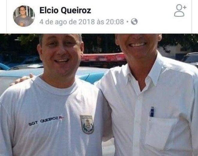 Elcio Vieira de Queiroz et Jair Bolsonaro, le 4/8/2018. © Facebook
