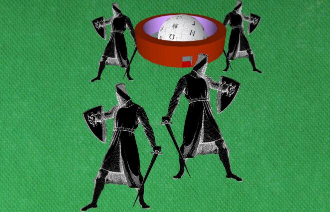 Les chevaliers noirs défendent une vierge pure nommée Wikipédia © Christian Bois