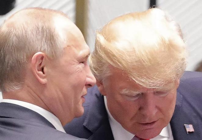 Vladimir Poutine et Donald Trump. © (service presse Kremlin)