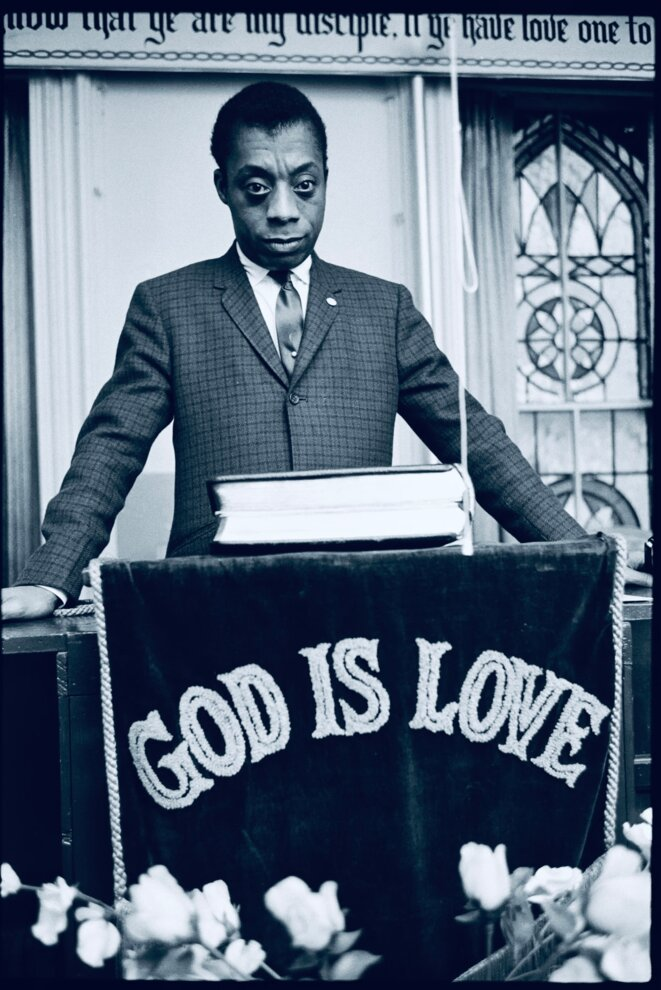 James Baldwin, God Is Love, Harlem, 1963 © Steve Schapiro