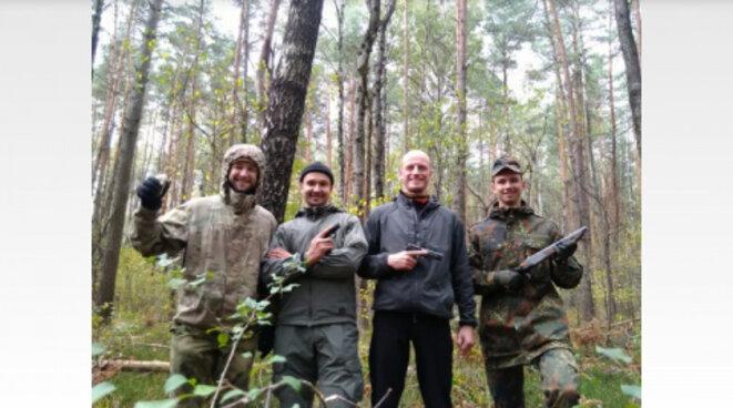 Les quatre partisants biélorusses. © avtonom.org