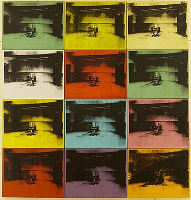 Andy Warhol électric chair, électric chair, électric chair, electric chair, électric chair ...
