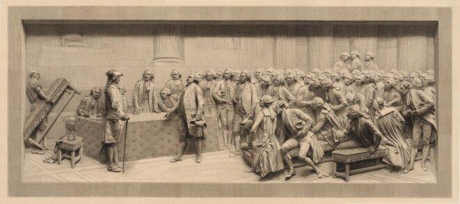 Mirabeau répondant à Dreux-Brézé le 23 juin 1789 © Lamotte
