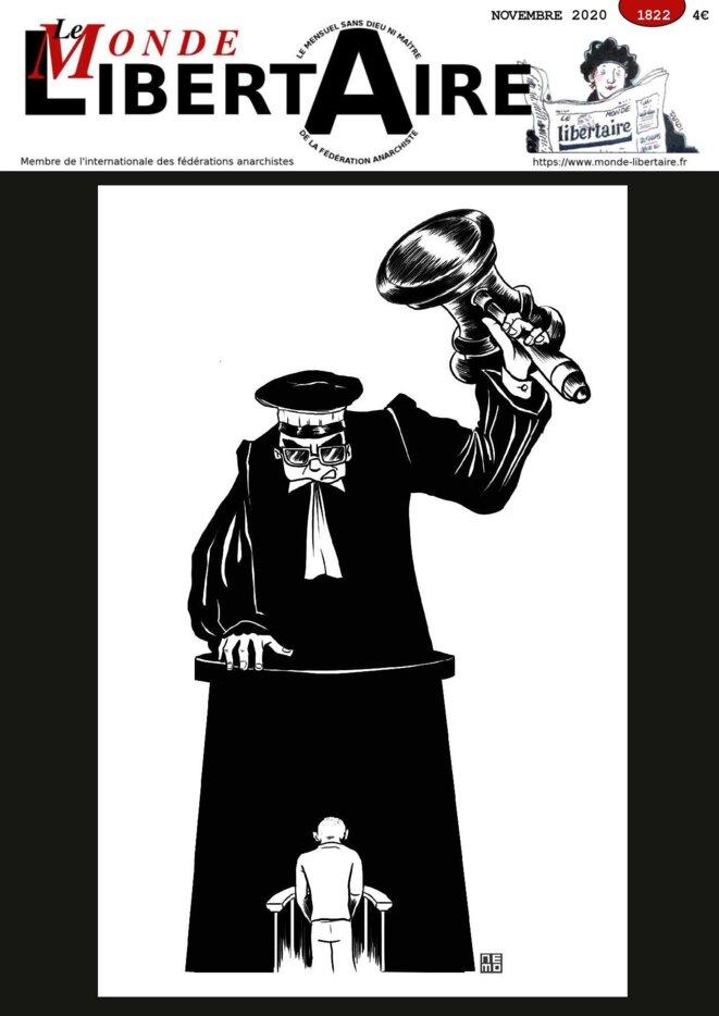 couverture Monde Libertaire Novembre 2020