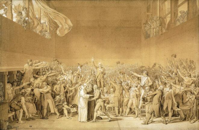 Le Serment du Jeu de paume (esquisse) © Jacques Louis David 1791