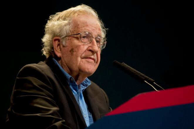 Noam Chomsly, 91 ans, considéré comme l'un des plus grands intellectuels américains
