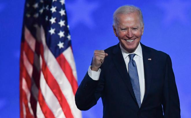 Joe Biden au soir du 4 novembre 2020, dans le Delaware. © Angela Weiss / AFP