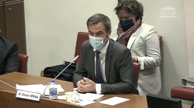 Olivier Véran auditionné par des députés le 4 novembre. © Capture d'écran Assemblée nationale