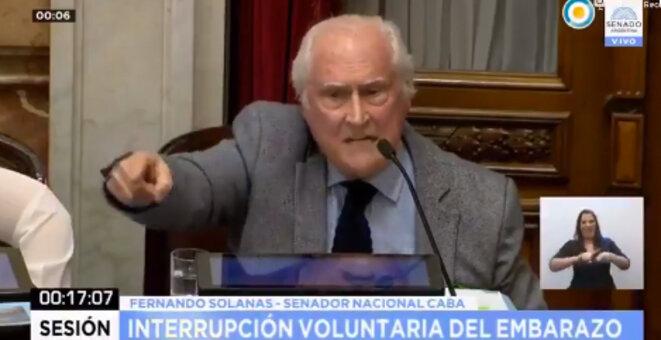 Pino Solanas au Sénat argentin