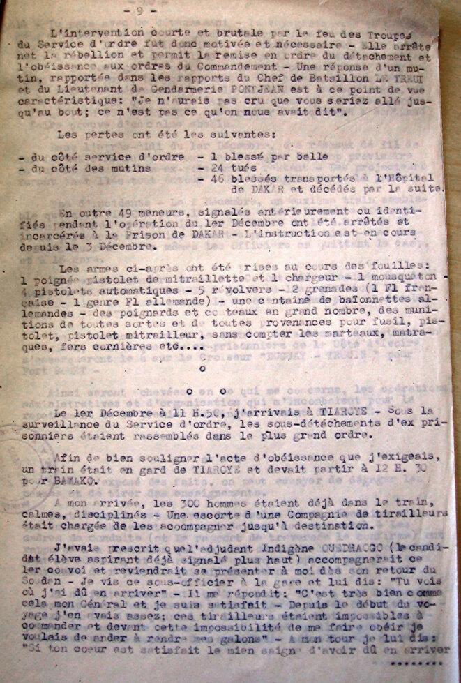 Rapport du Général Dagnan du 5 dcembre 1944 (SHD)