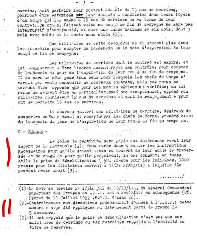 Extrait de la circulaire du 4 décembre 1944