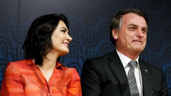 Michelle Bolsonaro et Jair Bolsonaro © DR