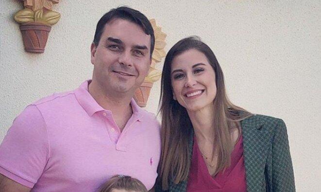 Flavio Bolsonaro et Fernanda Bolsonaro (photographie d'archives). © DR