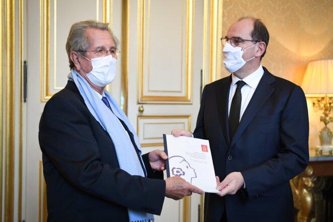 Jean-Louis Debré et Jean Castex. © Matignon