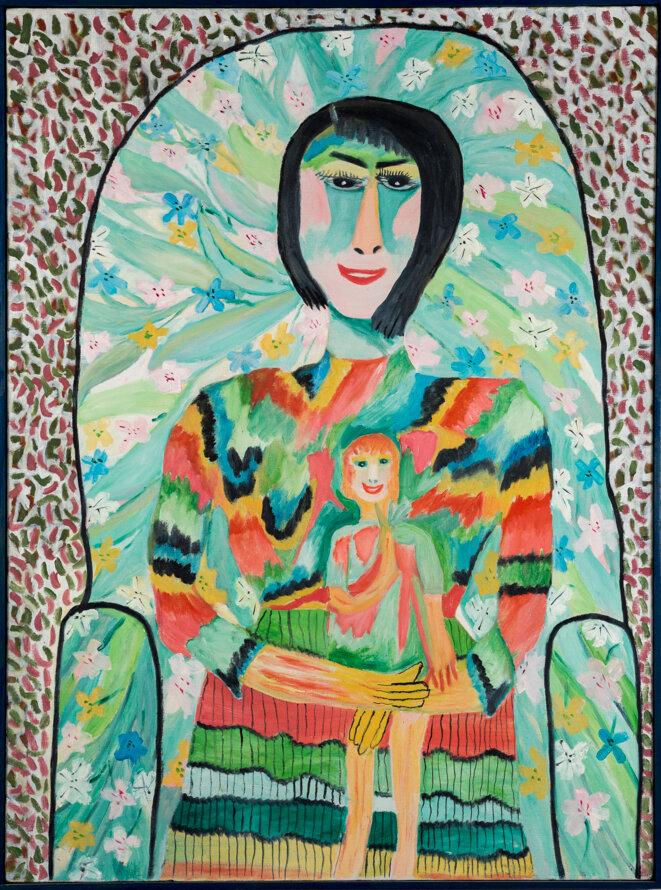 Pauline Simon, sans titre, Acrylique sur toile, 1965 80 x 59.5 cm.  Collection Karl Wirsum et Lorri Gunn © Photo : John Faier