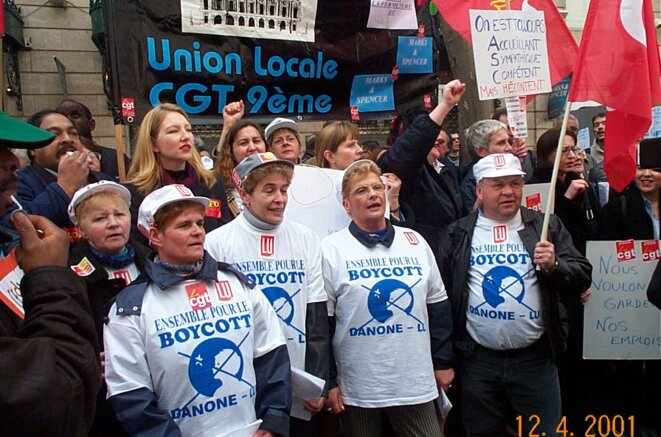Manifestation Lu-Danone 2001