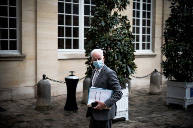 Alain Griset, ministre chargé des petites et moyennes entreprises, à Matignon, le 29 septembre 2020. © Nicholas Orchard / Hans Lucas/AFP