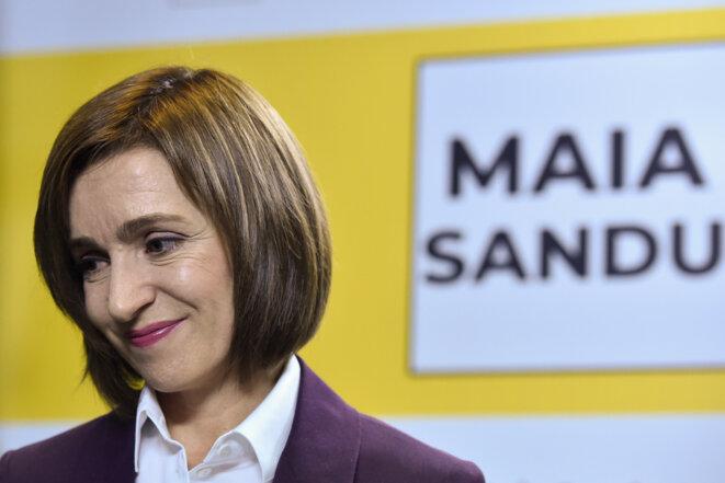 Maia Sandu, dimanche 16 novembre 2020. © Sergei GAPON / AFP