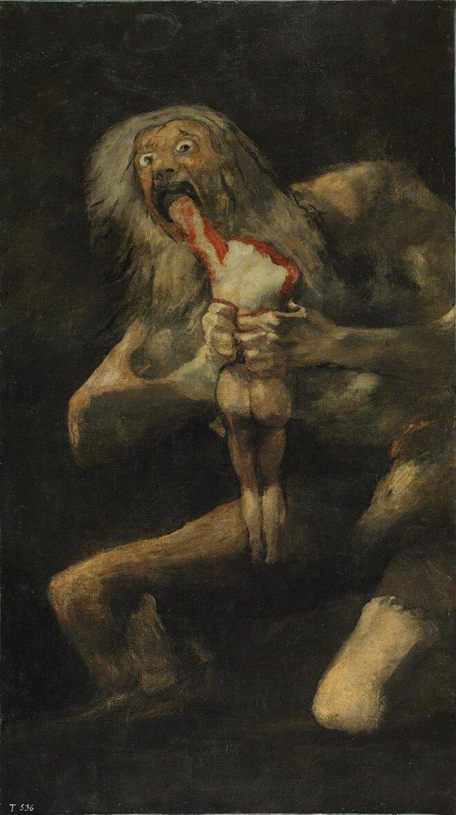 « Saturne dévorant un des ses fils » (1819-1823), Francisco Goya © DR