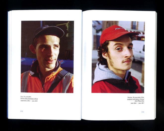Léo, livreur chez Domino's Pizza (à gauche), et Marvin, employé polyvalent et livreur chez Pizza Hut. © Yves Drillet