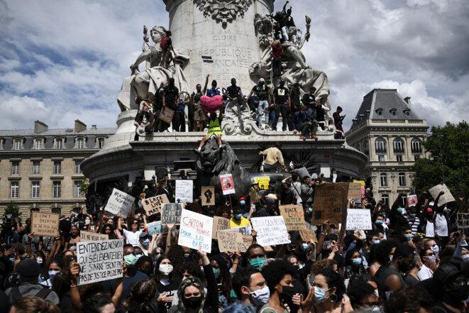 Manifestation Anti-Raciste Place de la République, Paris. Source: La Croix