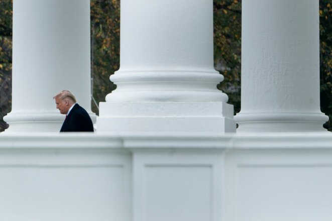 Trump quitte la Maison Blanche le 26 octobre 2020. © Brendan Smialowski/AFP