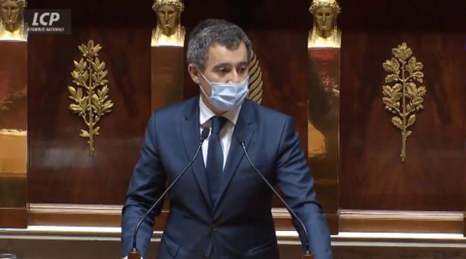Gérald Darmanin à l'Assemblée, capture d'écran du débat sur LCP