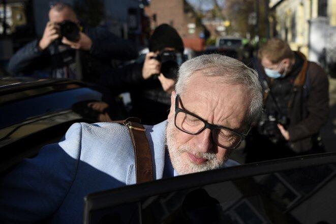 Jeremy Corbyn le 18 novembre 2020 à Londres. © Daniel Leal-Olivas/AFP
