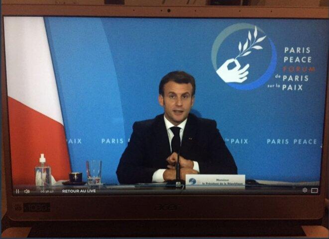 3e édition du forum de Paris sur la Paix - Emmanue Macron