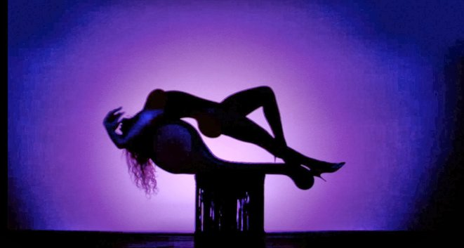 "Beyoncé's Silhouette in the ""Partition"" music video"