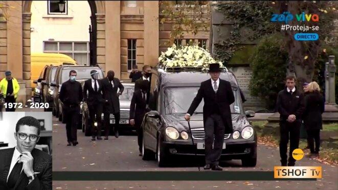 Londres-les-funerailles-de-SINDIKA-DOKOLO-1972-2020-Arrivee du cercueil.