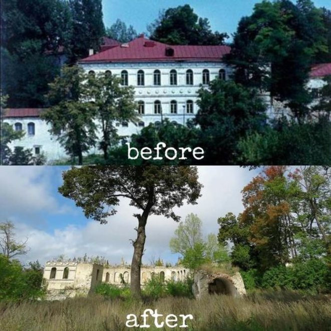Musée Natavan Choucha Avant l'occupation des séparatistes arméniens et aprés. Natavan est une poétesse azerbaidjanaise née à Choucha au XIX siècle