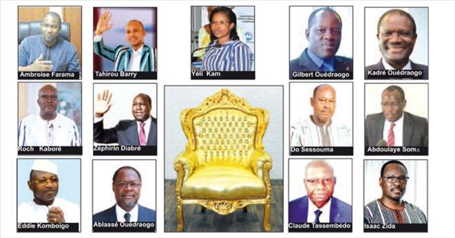 Les candidats aux élections présidentielles de 2020 au Burkina © anaonyme
