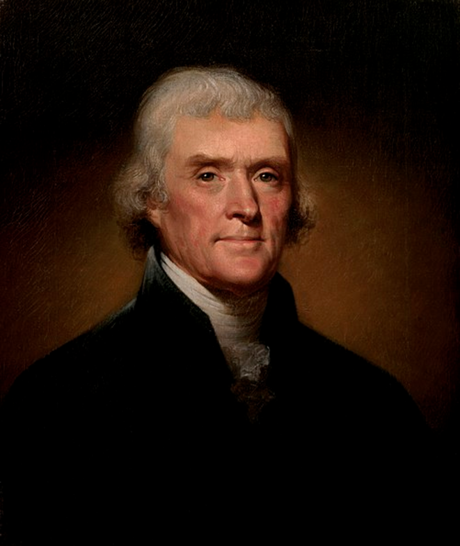 Thomas Jefferson © Rembrandt Peale, 1800