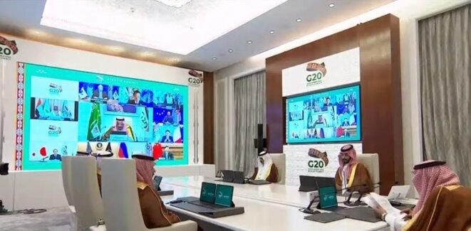 Arabie Saoudite – Par visio-conférence, les chefs d'Etats et gouvernants des pays membres du G20