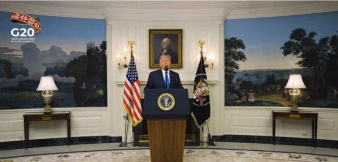 G20 – Arabie saoudite – Le Président américain Donald Trump