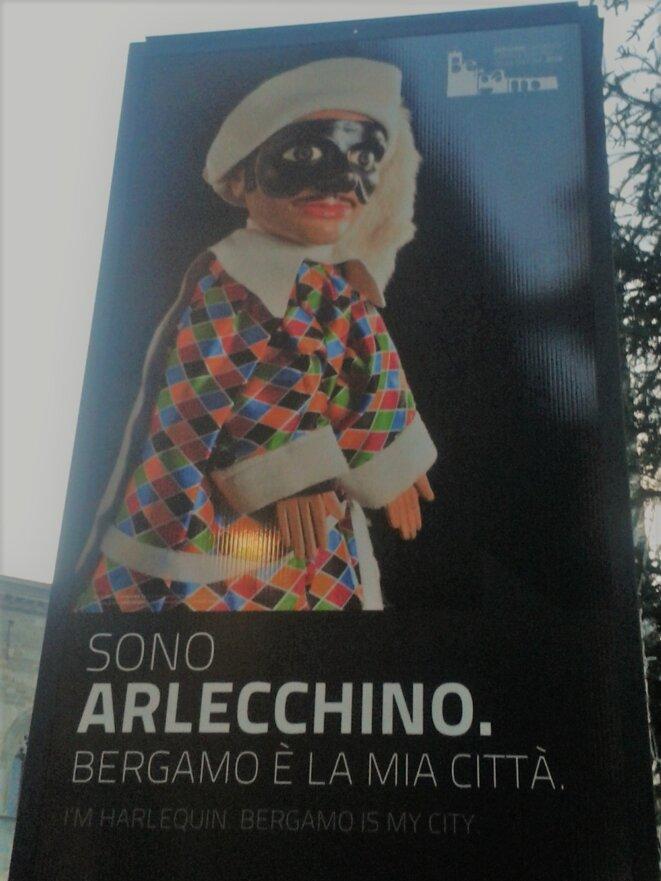 Bergamo, città alta, Italia, enseigne publique, Février 2013 © Joël Cramesnil