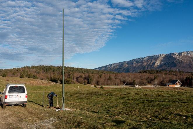 Travaux pour la mise en place d'une webcam (et télésurveillance ?) le 23/11/2020 © plbillot