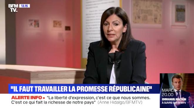Anne Hidalgo à BFMTV, le 21 novembre 2020 / Capture d'écran