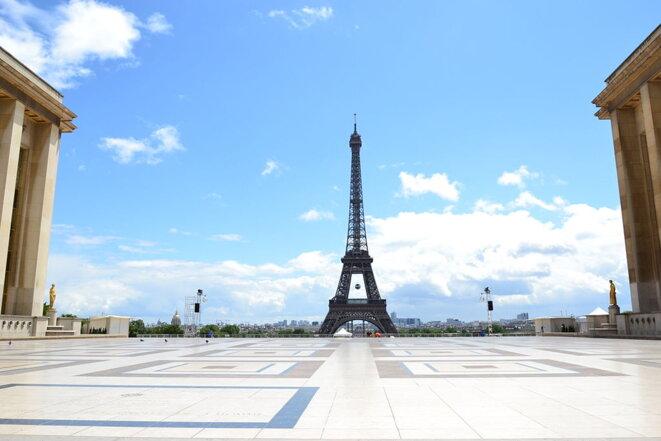 La Tour Eiffel vue du Trocadéro - Après-midi du 14 juillet © Coralive