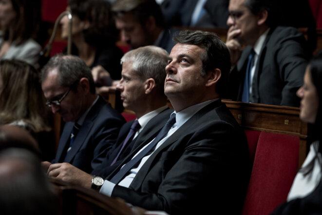 Thierry Solère en 2017 à l'Assemblée nationale. © Nicholas Orchard / Hans Lucas via AFP