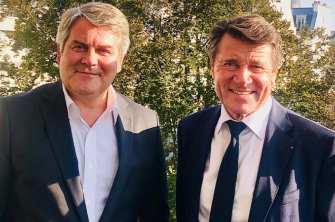 Franck Louvrier et Christian Estrosi, au soleil. © DR